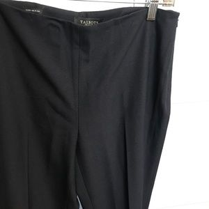 TALBOTS Classic Side Zip Slim Black Pants
